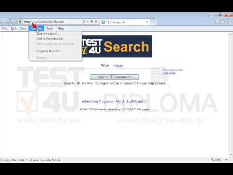 Add the current page to your Favorites under the name searchTest4u