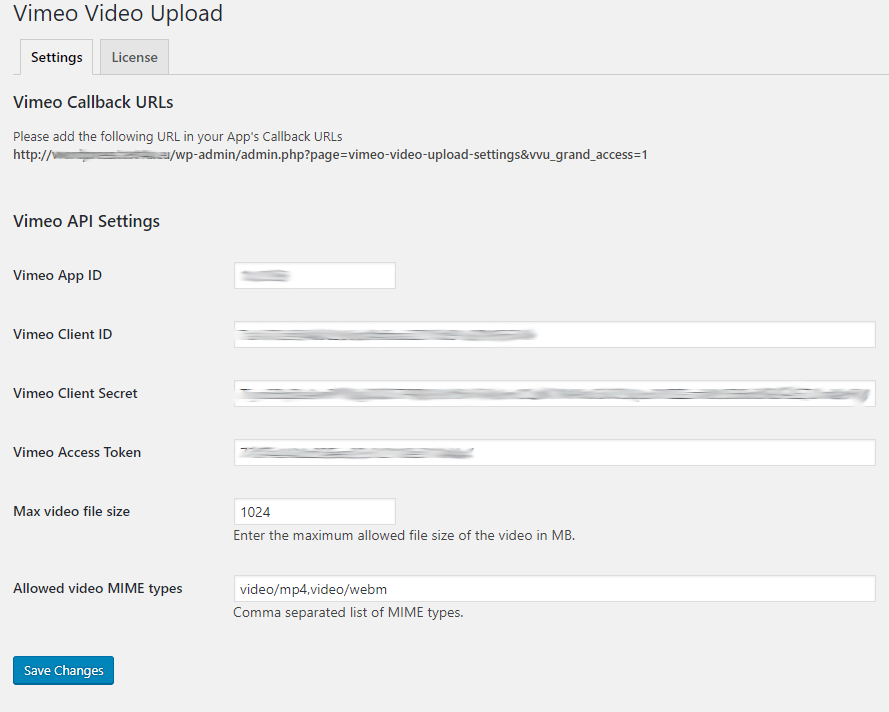 Plugin Settings