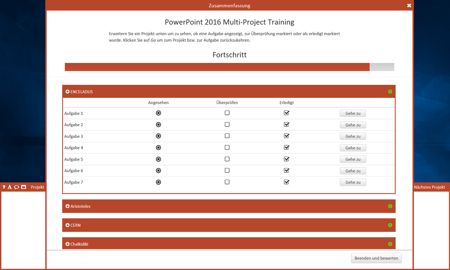 MOS Powerpoint Multi - project