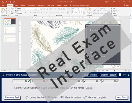 compare test4u mo exam inteface powerpoint 1
