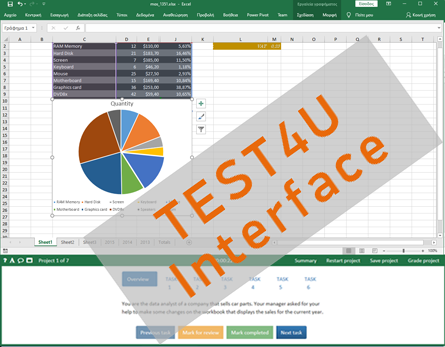 compare test4u mo exam inteface excel 2