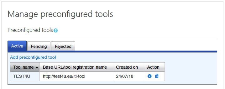 manage preconfigured tools
